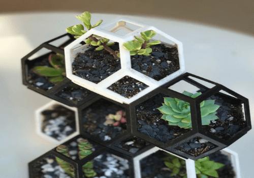 4. Plantygon – Modular Geometric stacking Planter for Succulents
