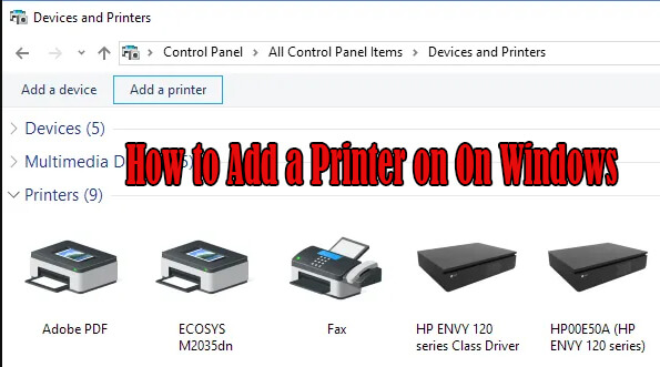 how to add a printer on windows 10