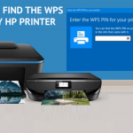 where to find wps pin on hp printer